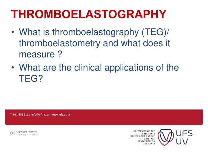 Thromboelastography