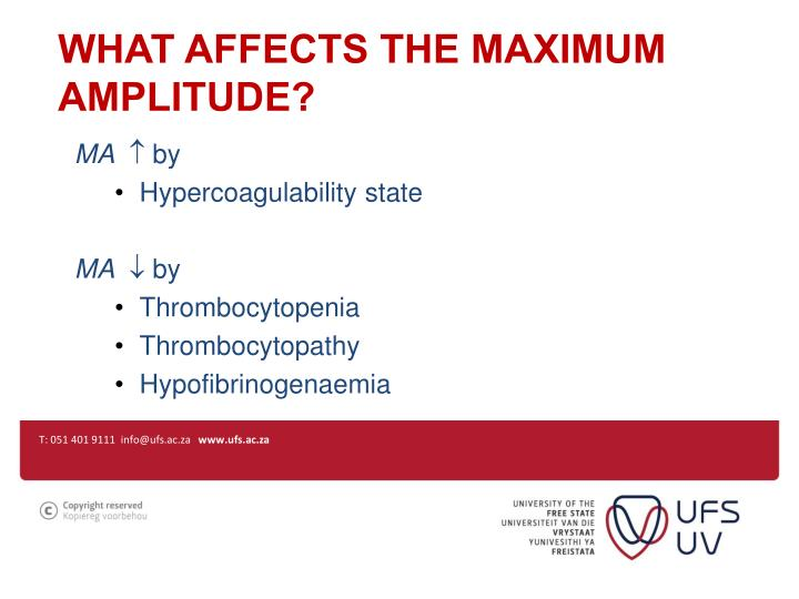 What affects the maximum amplitude?