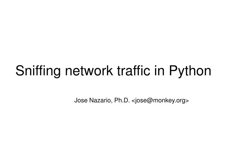 sniffing network traffic in python