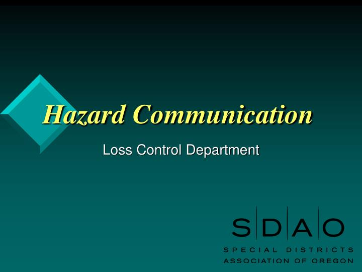 hazard communication n.