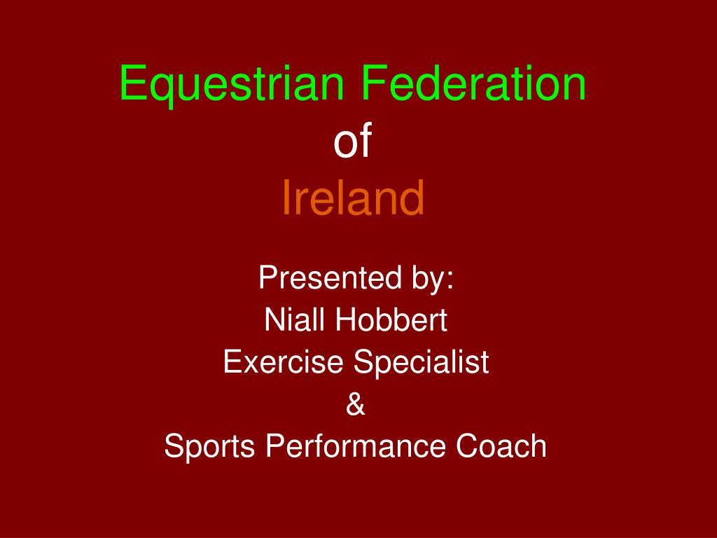 equestrian federation of ireland l.