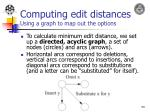 computing edit distances using a graph to map out the options