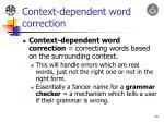context dependent word correction