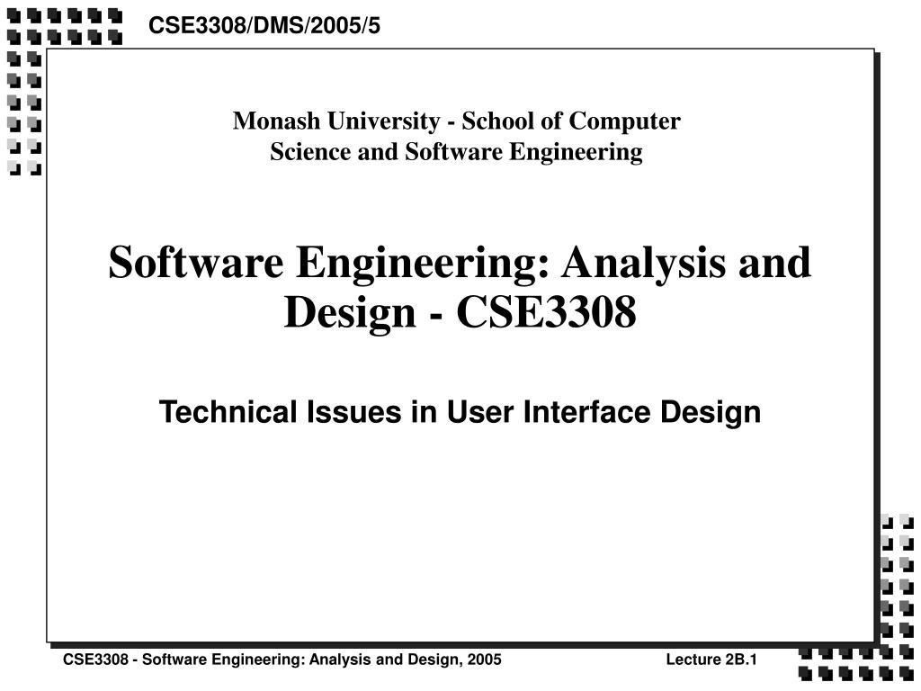Ppt Software Engineering Analysis And Design Cse3308 Powerpoint Presentation Id 1072555