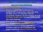 part 4 conclusions and recommendations