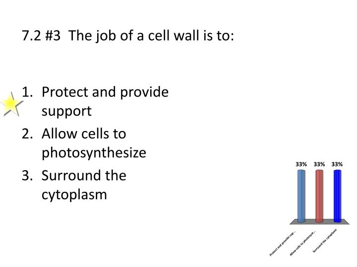 7.2 #3  The job of a cell wall is to: