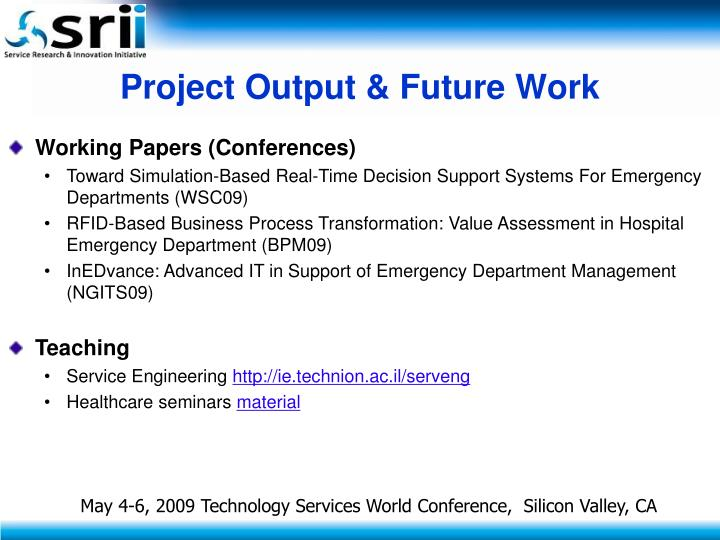 Project Output & Future Work