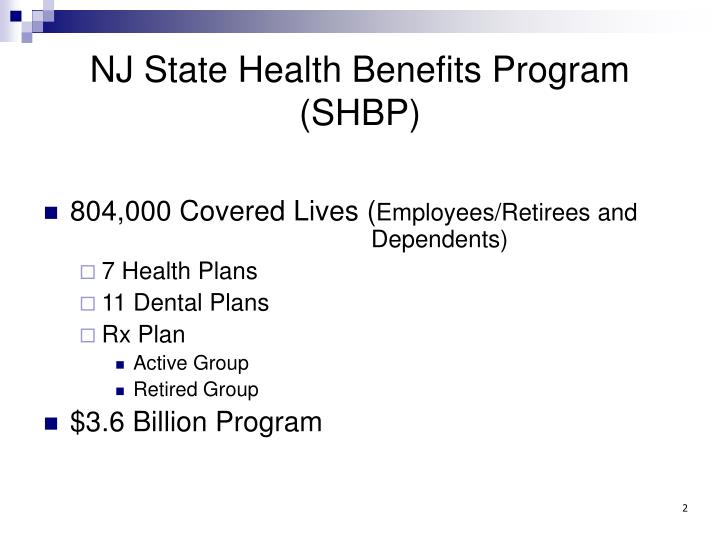 PPT - New Jersey State Health Benefits Program PowerPoint ...