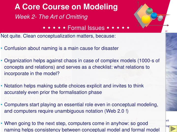 A Core Course on Modeling