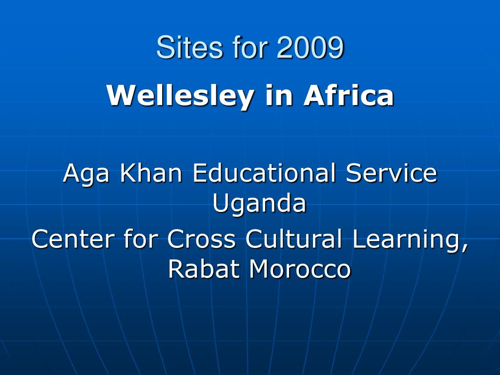 Sites for 2009
