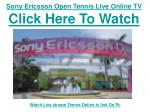 sony ericsson open tennis live online tv click here to watch