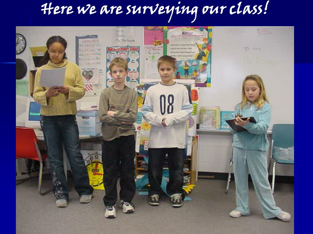 Here we are surveying our class!