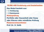 m bw 400 erziehung und sozialisation