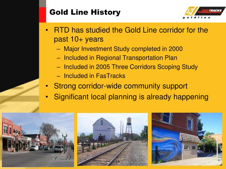 Gold line history