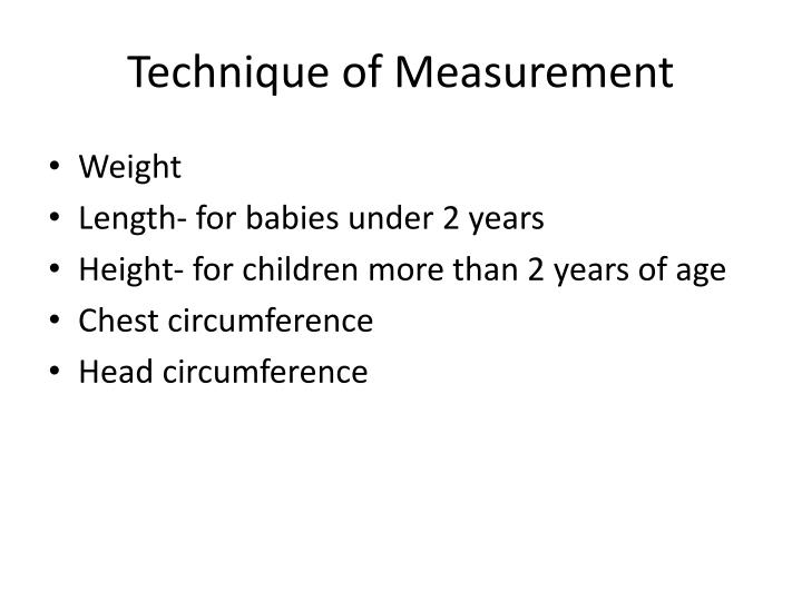 Technique of measurement