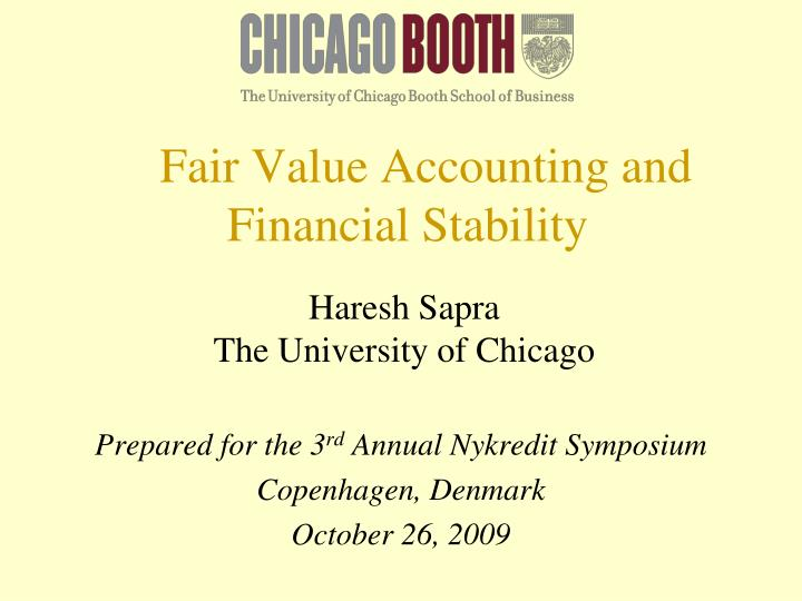 fair value accounting and financial stability n.
