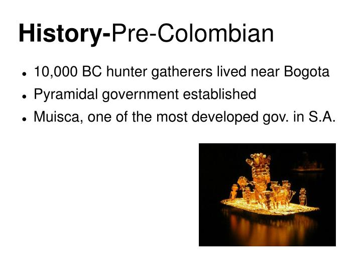History pre colombian