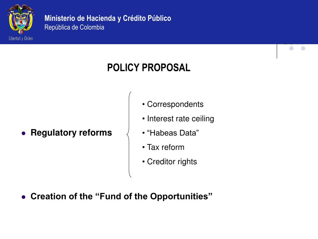 POLICY PROPOSAL
