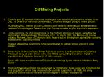 oil mining projects