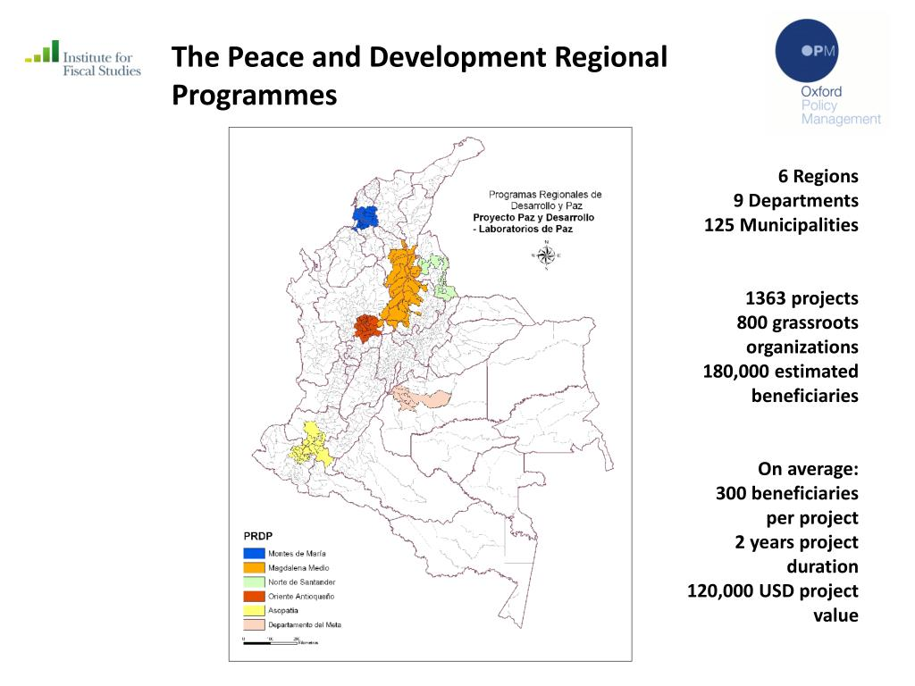 The Peace and Development Regional Programmes