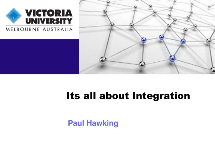 its all about integration n.