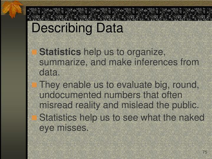 Describing Data