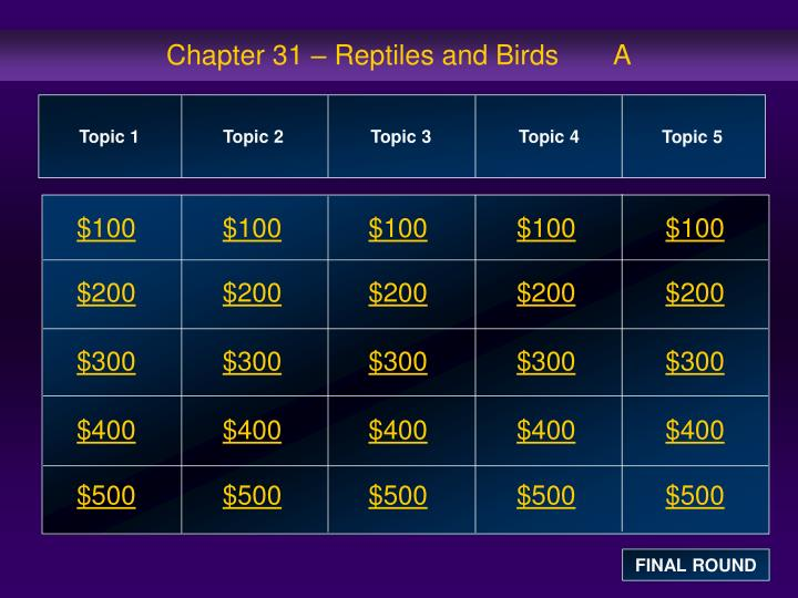 chapter 31 reptiles and birds a n.