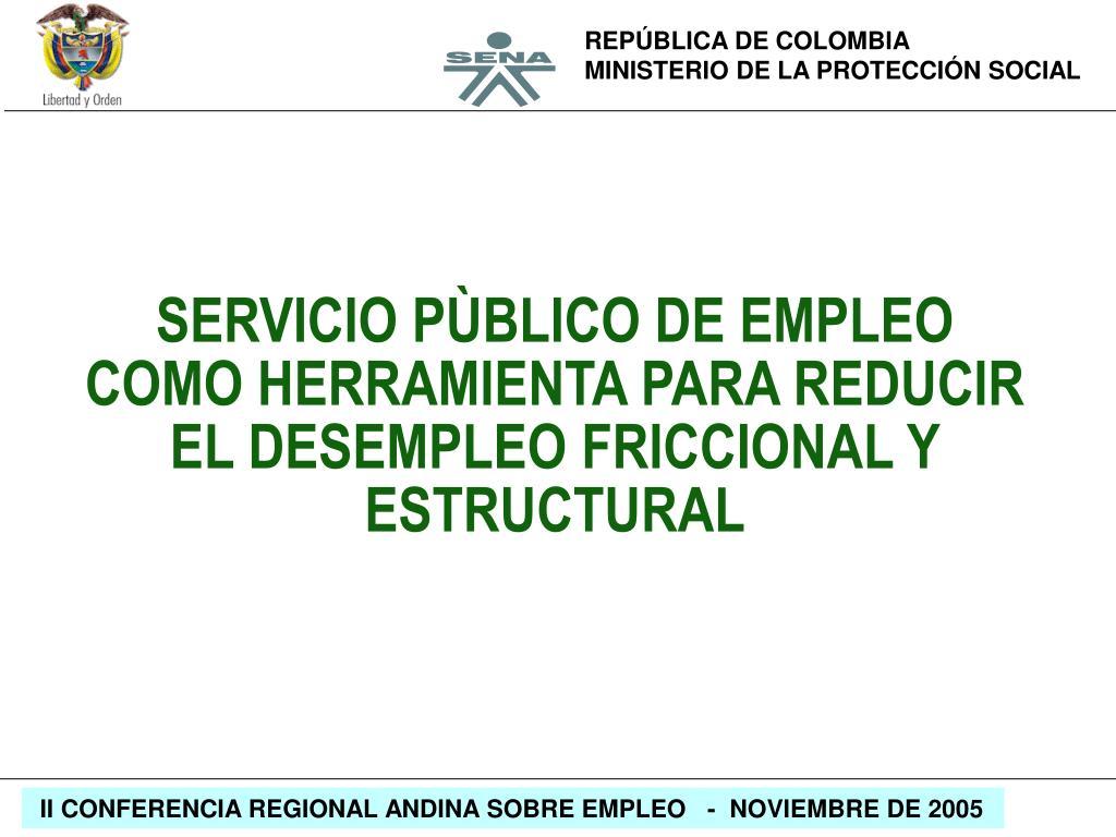 SERVICIO PÙBLICO DE EMPLEO