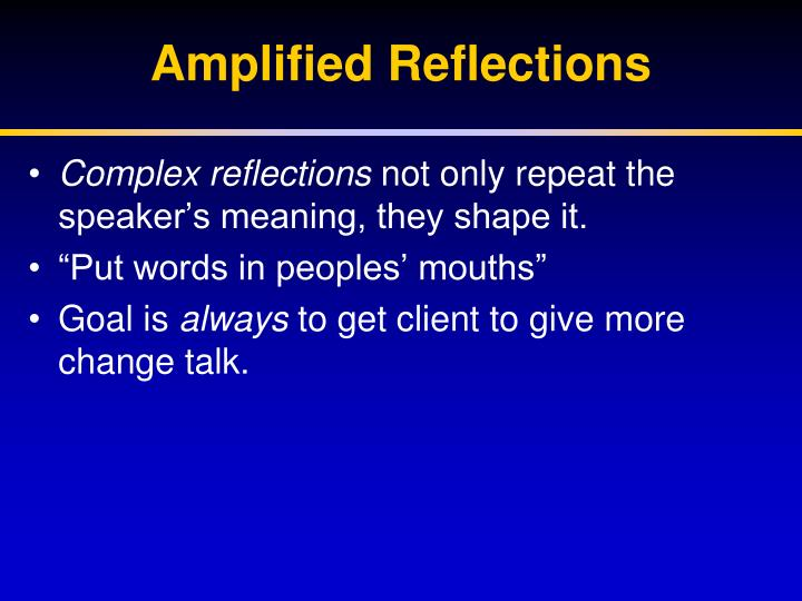 Amplified Reflections