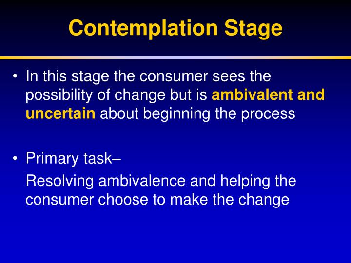 Contemplation Stage