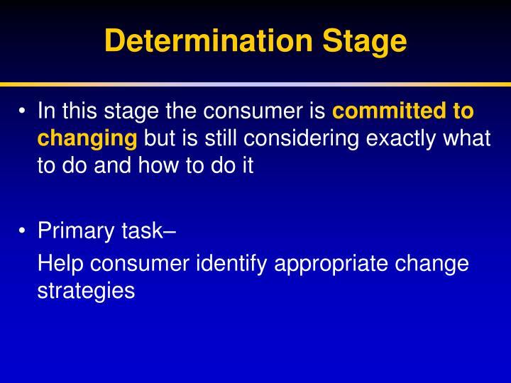 Determination Stage