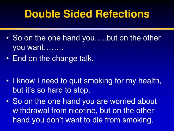 Double Sided Refections
