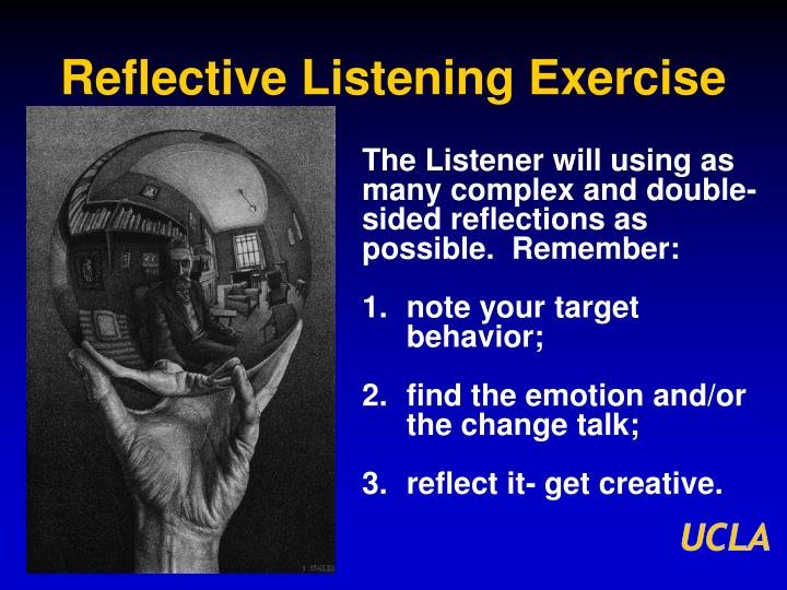 Reflective Listening Exercise