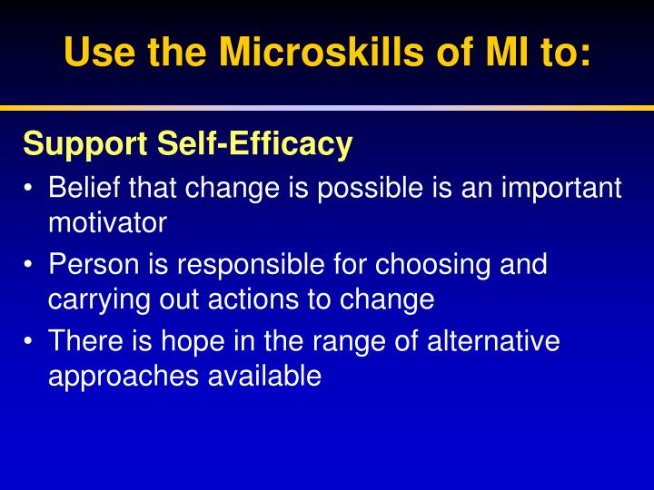 Support Self-Efficacy