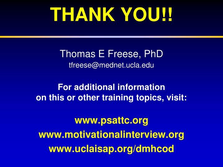 Thomas E Freese,