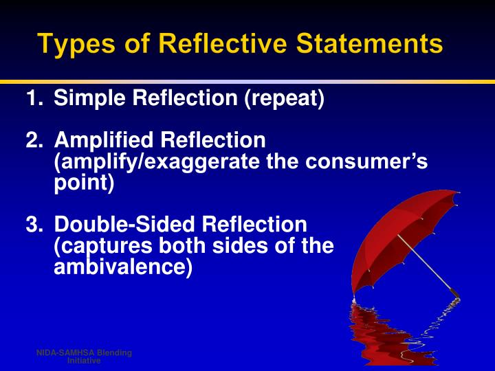 Types of Reflective Statements