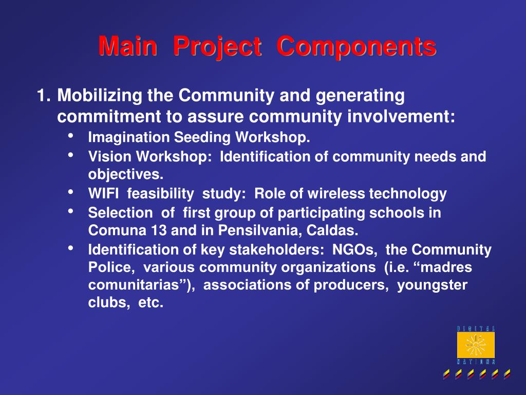 Main  Project  Components