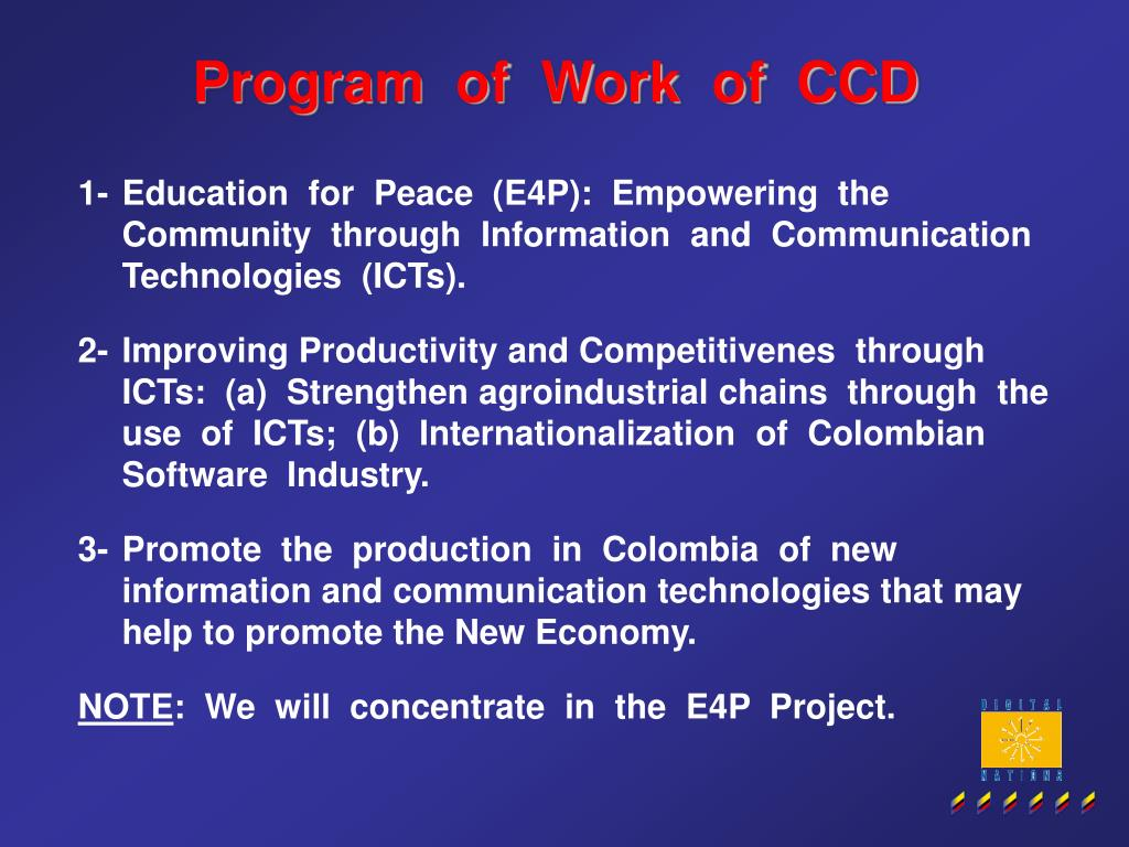 Program  of  Work  of  CCD