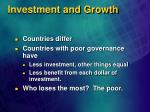 investment and growth