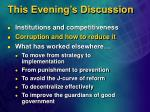 this evening s discussion28