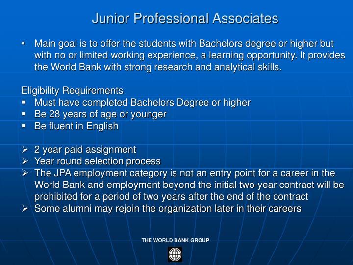Junior Professional