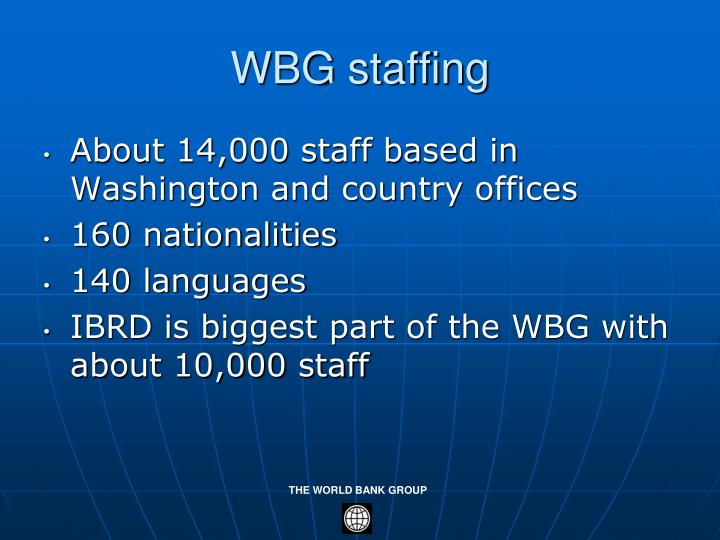 WBG staffing