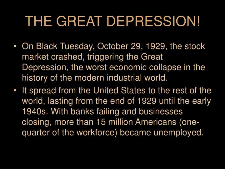 great depression bank failures essays The great depression was a severe worldwide economic depression that took place mostly during the 1930s, beginning in the united statesthe timing of the great depression varied across nations in most countries it started in 1929 and lasted until the late-1930s.