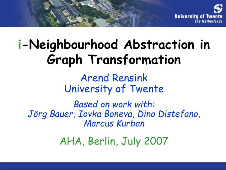 i neighbourhood abstraction in graph transformation n.