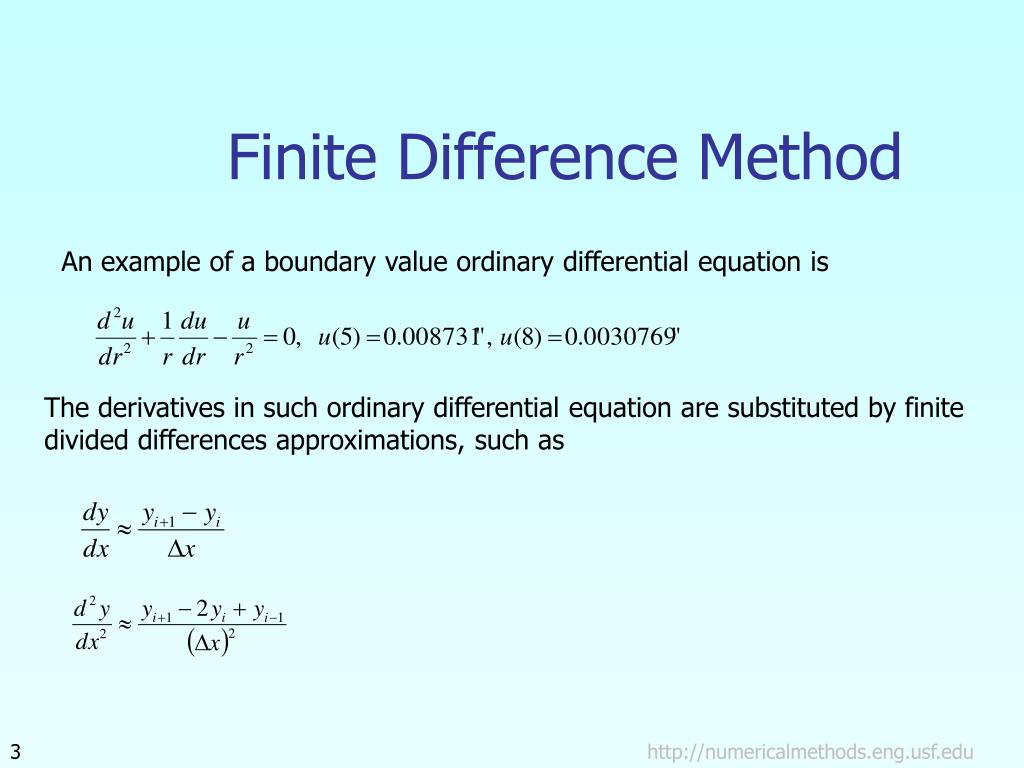 PPT - Finite Difference Method PowerPoint Presentation - ID