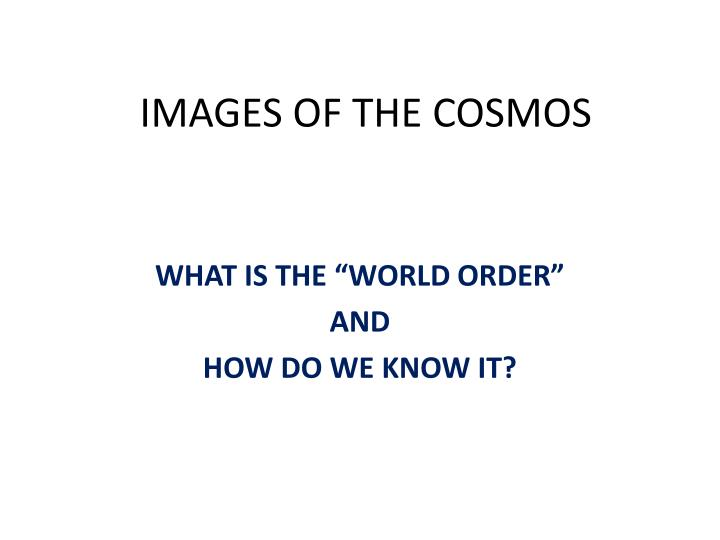 images of the cosmos n.