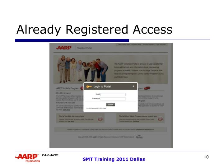 Already Registered Access