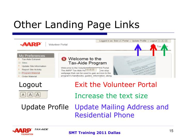 Other Landing Page Links