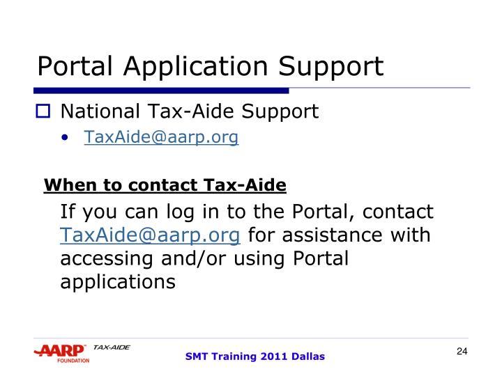 Portal Application Support