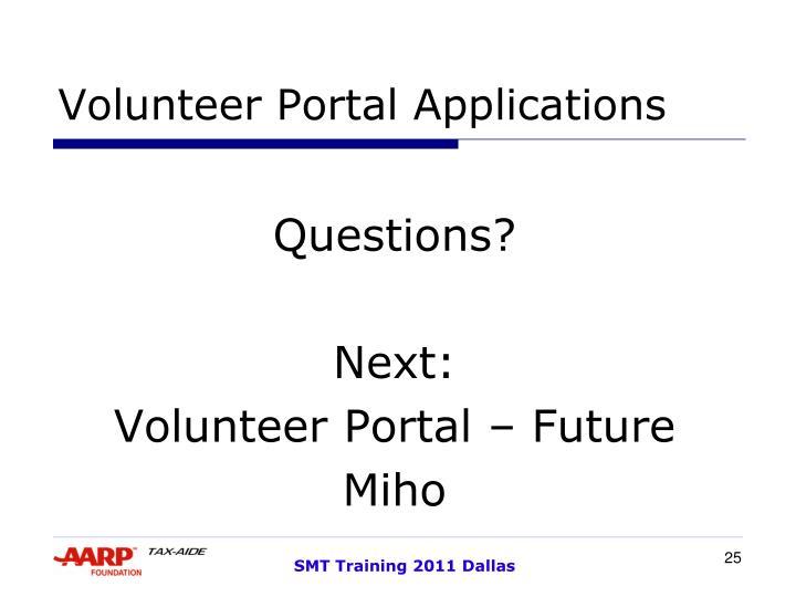 Volunteer Portal Applications